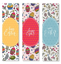 Hand sketched happy easter set as easter logotype vector
