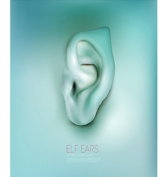 background with realistic ear elf vector image
