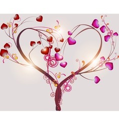 Abstract tree symbolizing love vector image