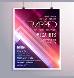 Amazing shiny lights music flyer template with vector