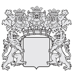 aristocratic emblem No42 vector image