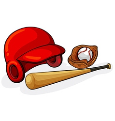 Baseball equipments vector image