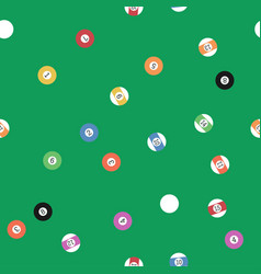 billiard balls seamless pattern vector image