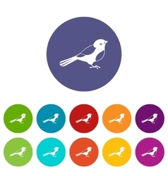 Bird set icons vector image