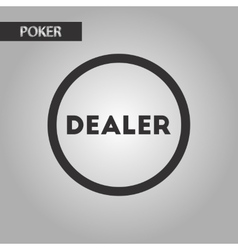 Black and white style chip dealer vector