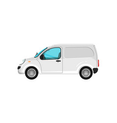 commercial cargo minivan isolated icon vector image
