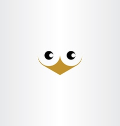 Cute bird face icon vector