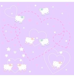 Cute lambs vector
