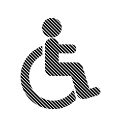 Disabled sign on white vector image