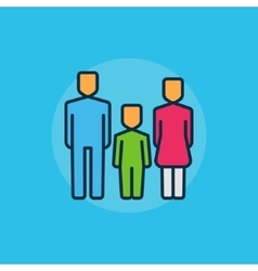 Family flat minimal vector image vector image