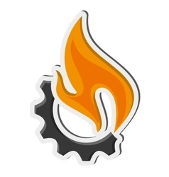 Fear and fire icon vector