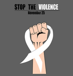 fight hand fist against stop violence woman white vector image
