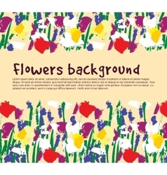 Flowers background empty place nature vector image vector image