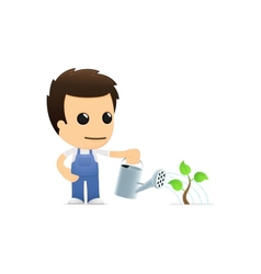 funny cartoon mechanic vector image