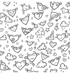Funny valentine hearts vector