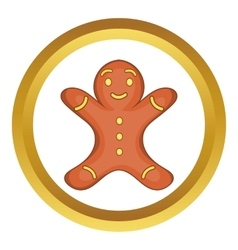 Gingerbread man cookie icon vector