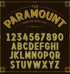 Golden Retro Font vector image