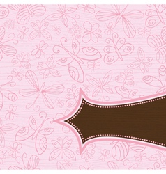 grunge wooden pink background with pattern of hand vector image