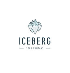 Iceberg triangle of cold mountain abstract vector