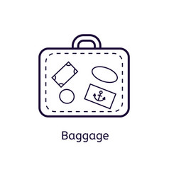 icon of baggage on a white background vector image vector image