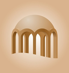 islamic logo element vector image vector image
