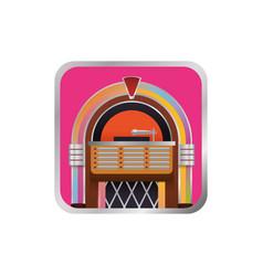 Jukebox vintage rockola vector