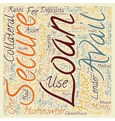 Loans for homeowner text background wordcloud vector