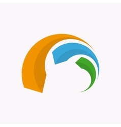 Logo design element pointer target arrow vector