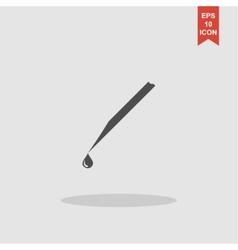 Medical syringe icon EPS 10 vector image