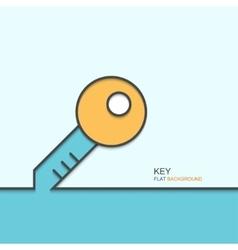 modern outline flat design of key vector image vector image