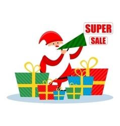 Santa super Christmas discounts vector image vector image