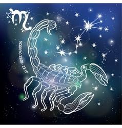 Scorpio zodiac signhoroscope circlespace dark vector