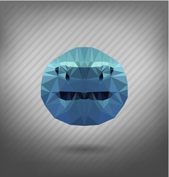 shark in the style of origami vector image