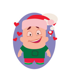 Smiling happy and funny avatar of little person vector