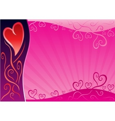 Valentine design vector image vector image