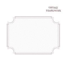 vintage antique decorative rectangular frame made vector image vector image
