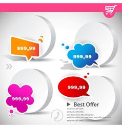 web banners with product prices vector image