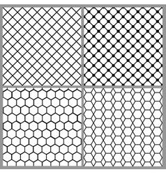 seamless net patterns vector image
