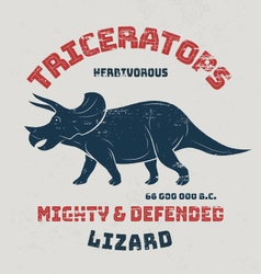 Triceratops t-shirt design print typography label vector