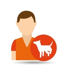 Character pet training dog peeing vector