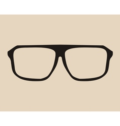 Big black eye glasses vector