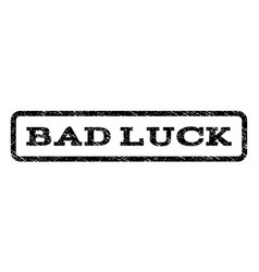 Bad luck watermark stamp vector