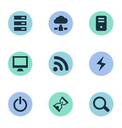 Set of simple laptop icons vector