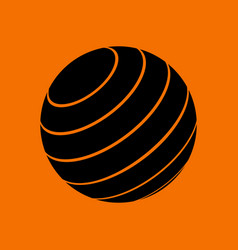 Fitness rubber ball icon vector
