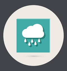 Cloud rain the weather icon vector