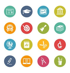 Education-Icons Fresh-Colors-Series vector image