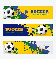 Football banners set vector