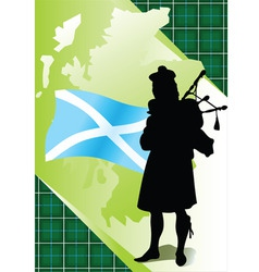 bagpiper vector image