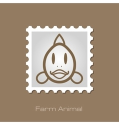 Fish stamp animal head vector