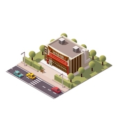 Isometric sushi restaurant vector